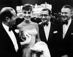 Cole Porter, Audrey Hepburn, Irving Berlin, and unidentified, early 1950s