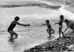 Vanessa Redgrave and her kid's on the Yugoslav Coast, 1960's.