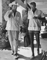 John Wayne and Gary Cooper vacationing in Acapulco, Mexico, ca. 1940s