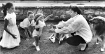 Judy Garland playing with her children, 1956