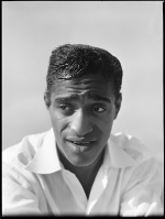 "Sammy Davis, Jr. mid-1950s. I had an assignment to photograph Davis to show his multiple talents. We didn't have a rehearsal studio with a blank wall to make the shots readable. So we found a building on Hollywood Boulevard that had a low roof edge – we could use the sky as our background. The pictures used in this sequence are five out of maybe three hundred. My technical knowledge of dance was zero; I had to go by instinct. Davis was great. Finally we had the shots, and as we were packing up, he looked at me as if he wanted to do some more. ""What's the matter?"" I said. ""Are you crazy?""