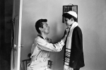Tony Curtis helping his brother, Robert, before Robert's bar mitzvah, 1953