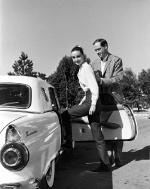 Audrey Hepburn with her husband, Mel Ferrer