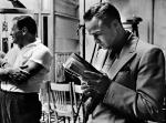 Marlon Brando on the set of Guys and Dolls, 1955